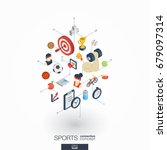 sport integrated 3d web icons.... | Shutterstock .eps vector #679097314
