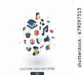 culture  art integrated 3d web... | Shutterstock .eps vector #679097515