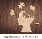 Human Head Silhouette With A...