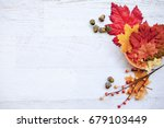 autumn thanksgiving background   Shutterstock . vector #679103449