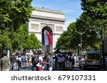 paris  france   july 14  2017   ... | Shutterstock . vector #679107331