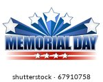 Stock photo an illustration for memorial day with the american flag colors isolated over white 67910758