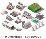 colorful isometric set with... | Shutterstock .eps vector #679109329