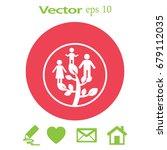 flat icon. family tree.   Shutterstock .eps vector #679112035