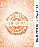 do it yourself abstract orange... | Shutterstock .eps vector #679115455