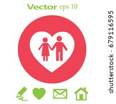flat icon family. love between... | Shutterstock .eps vector #679116595