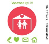 flat icon family. the husband... | Shutterstock .eps vector #679116781