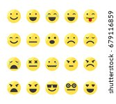 colored emoji icons set. smiley ... | Shutterstock . vector #679116859