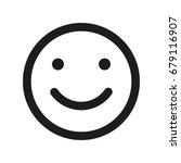 smile face icon. emoji smile. | Shutterstock . vector #679116907