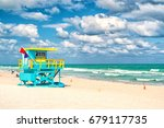 south beach  miami  florida ... | Shutterstock . vector #679117735