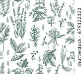 graphic vintage pattern with... | Shutterstock .eps vector #679122121