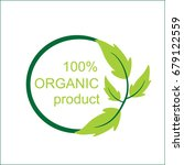 eco organic product logo | Shutterstock .eps vector #679122559