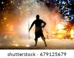 fire performance with moving... | Shutterstock . vector #679125679