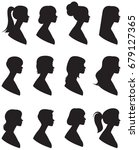 set of vector silhouettes.... | Shutterstock .eps vector #679127365