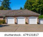 garage  garage doors and...   Shutterstock . vector #679131817