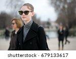 paris march 8  2016. top model... | Shutterstock . vector #679133617