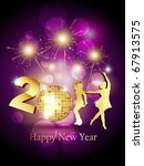 stylish beautiful new year... | Shutterstock .eps vector #67913575