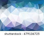 blue polygonal horizontal... | Shutterstock . vector #679136725