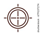 target weapon isolated icon