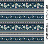 seamless  flower  pattern with... | Shutterstock .eps vector #679148185