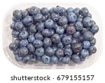 blueberry fruits in the plastic ...   Shutterstock . vector #679155157