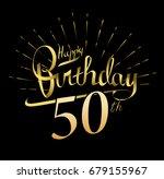50th happy birthday logo....