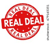 real deal sign or stamp on... | Shutterstock .eps vector #679165351