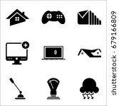 set of 9 mixed icons such as...   Shutterstock .eps vector #679166809