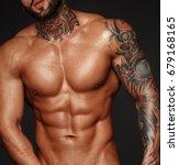 sexy closeup portrait of... | Shutterstock . vector #679168165