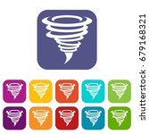 tornado icons set vector... | Shutterstock .eps vector #679168321