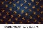 bitcoin luxury curtain pattern... | Shutterstock . vector #679168675