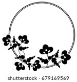 black and white silhouette... | Shutterstock .eps vector #679169569