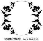 black and white silhouette... | Shutterstock .eps vector #679169611