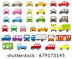 simple car of color   front and ... | Shutterstock .eps vector #679173145