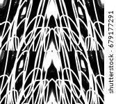 black and white kaleidoscope | Shutterstock . vector #679177291