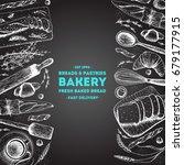 bakery illustration. vintage... | Shutterstock .eps vector #679177915