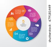 circle arrows for infographics. ... | Shutterstock .eps vector #679181449