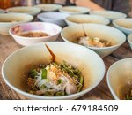 many small bowls thai noodle...   Shutterstock . vector #679184509