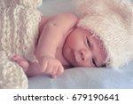 little newborn baby | Shutterstock . vector #679190641