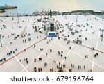 top view of commercial square.... | Shutterstock . vector #679196764