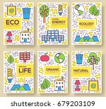 clean energy vector brochure... | Shutterstock .eps vector #679203109