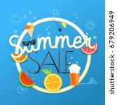 summer sale vector illustration.... | Shutterstock .eps vector #679206949