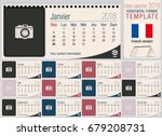 useful desk triangle calendar... | Shutterstock .eps vector #679208731