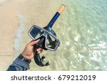 dive mask and snorkel ... | Shutterstock . vector #679212019