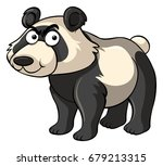 wild panda with angry face... | Shutterstock .eps vector #679213315