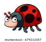 angry ladybug on white...   Shutterstock .eps vector #679213357