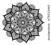 mandalas for coloring book.... | Shutterstock .eps vector #679213441