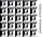 3d box paper cut cubes seamless ... | Shutterstock .eps vector #679214041