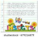 tracing worksheet for word... | Shutterstock .eps vector #679216879