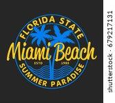 miami beach  florida state  ... | Shutterstock .eps vector #679217131